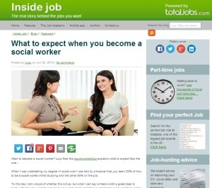 What to expect when you become a social worker